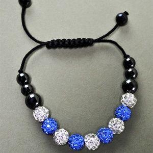 Jewelry - Crystal Beaded Cord Bracelet